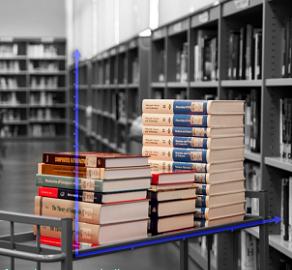libri su un carrello