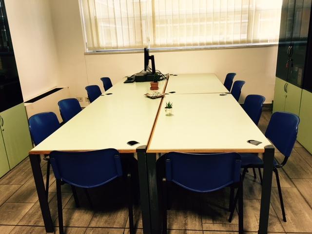 Foto della sala dedicata ai corsi e alle riunioni