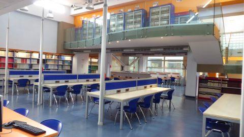 Biblioteca di area scientifica Biblioteca di area tecnologica sala lettura sede centrale