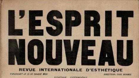 """Copertina del primo numero del periodico """"L'esprit nouveau"""""""